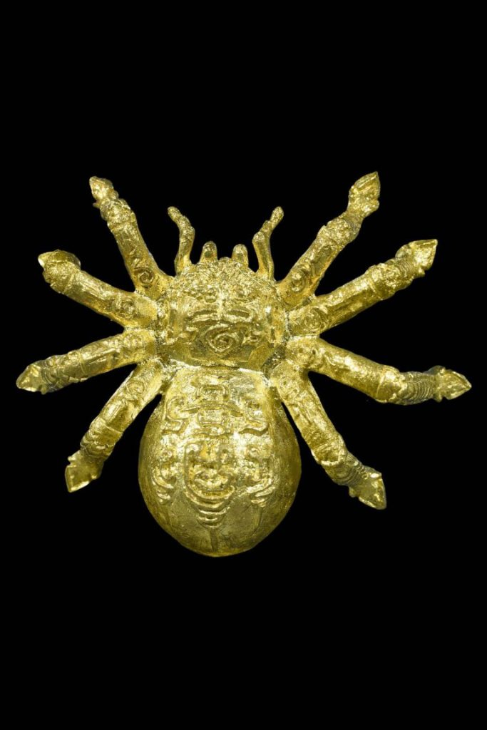 แมงมุมวิชาเย็น ชักใยดักรัก เรียกทรัพย์กลางอากาศ เนื้อทองยอดธง